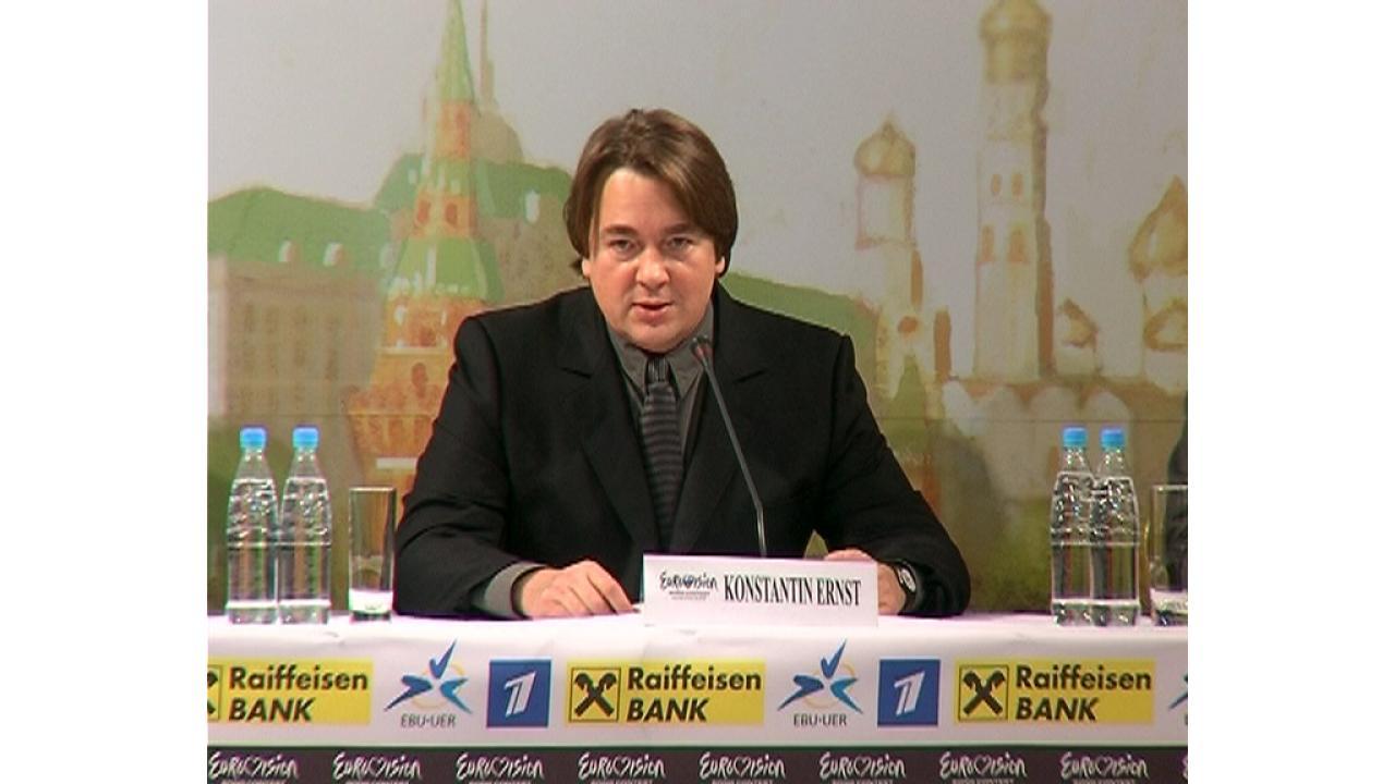 Передача символа «Евровидения» мэром Белграда мэру Москвы