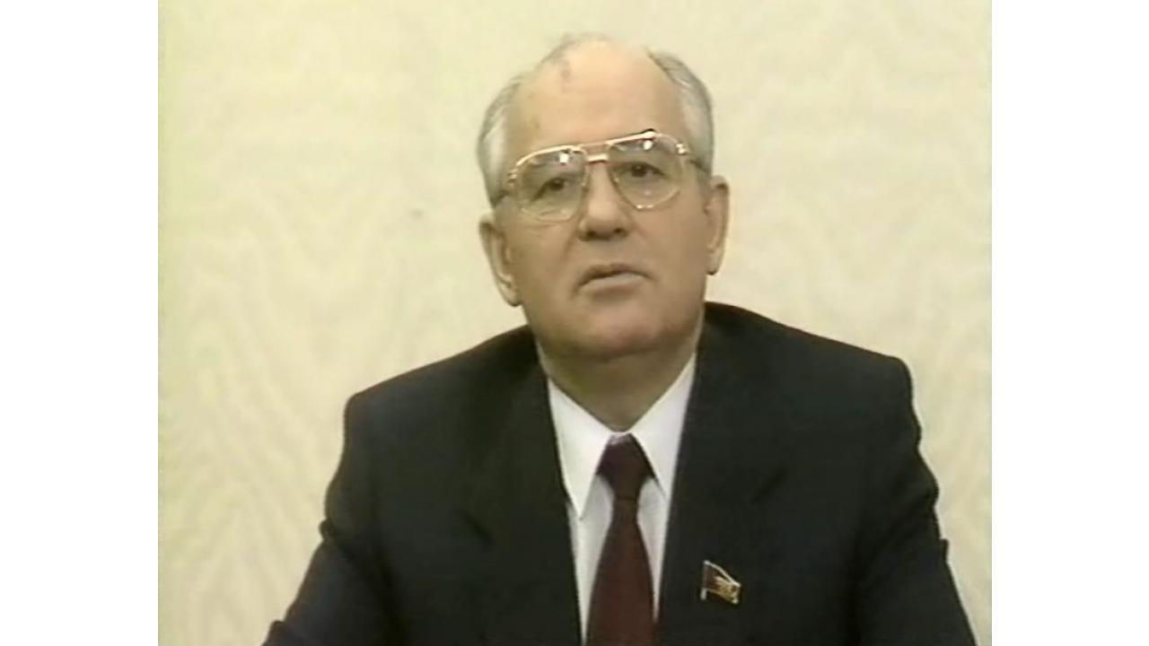 Новогоднее поздравление Михаила Горбачева. 1988год
