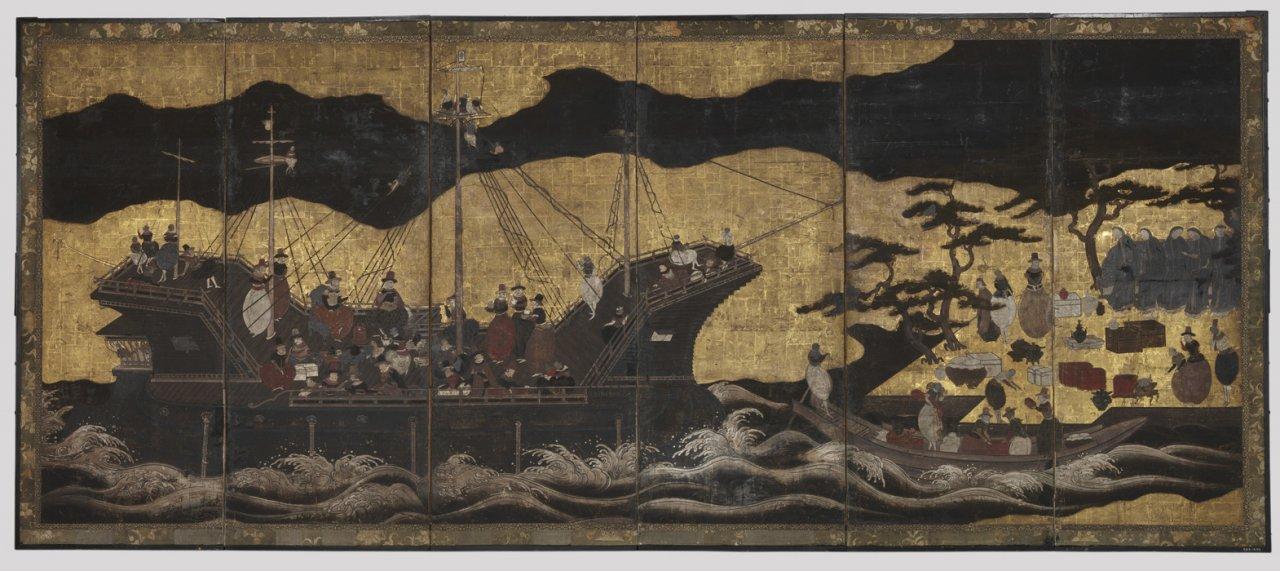 Ширма. Япония, Киото, начало XVII века. Фото: kreml.ru