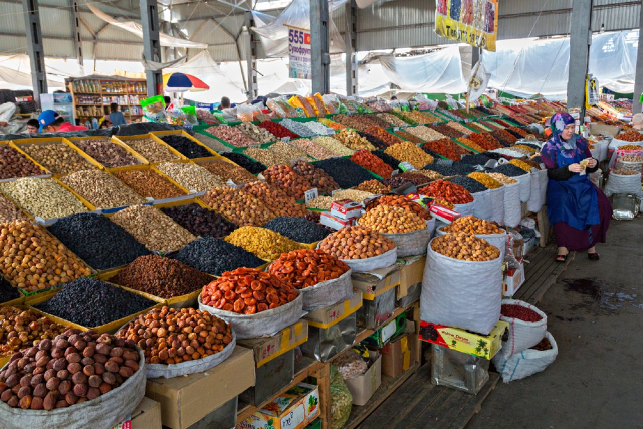 Ошский базар в Бишкеке