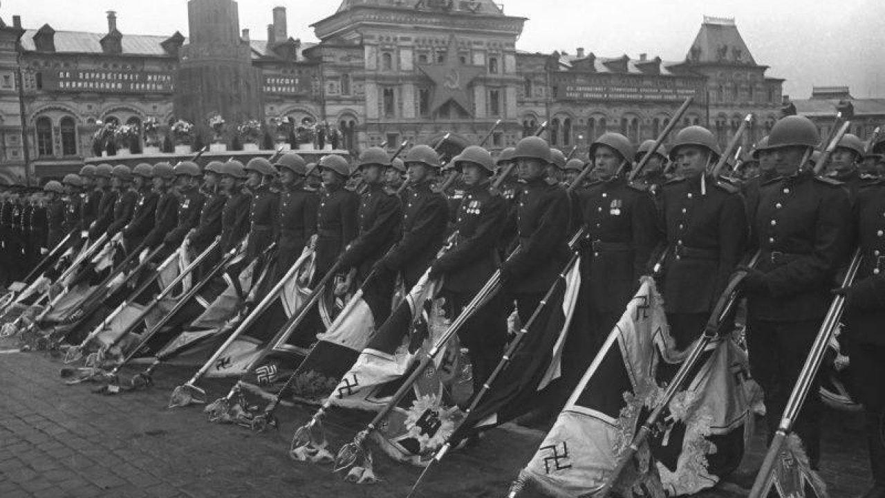 Москва, Красная площадь. Исторический Парад Победителей