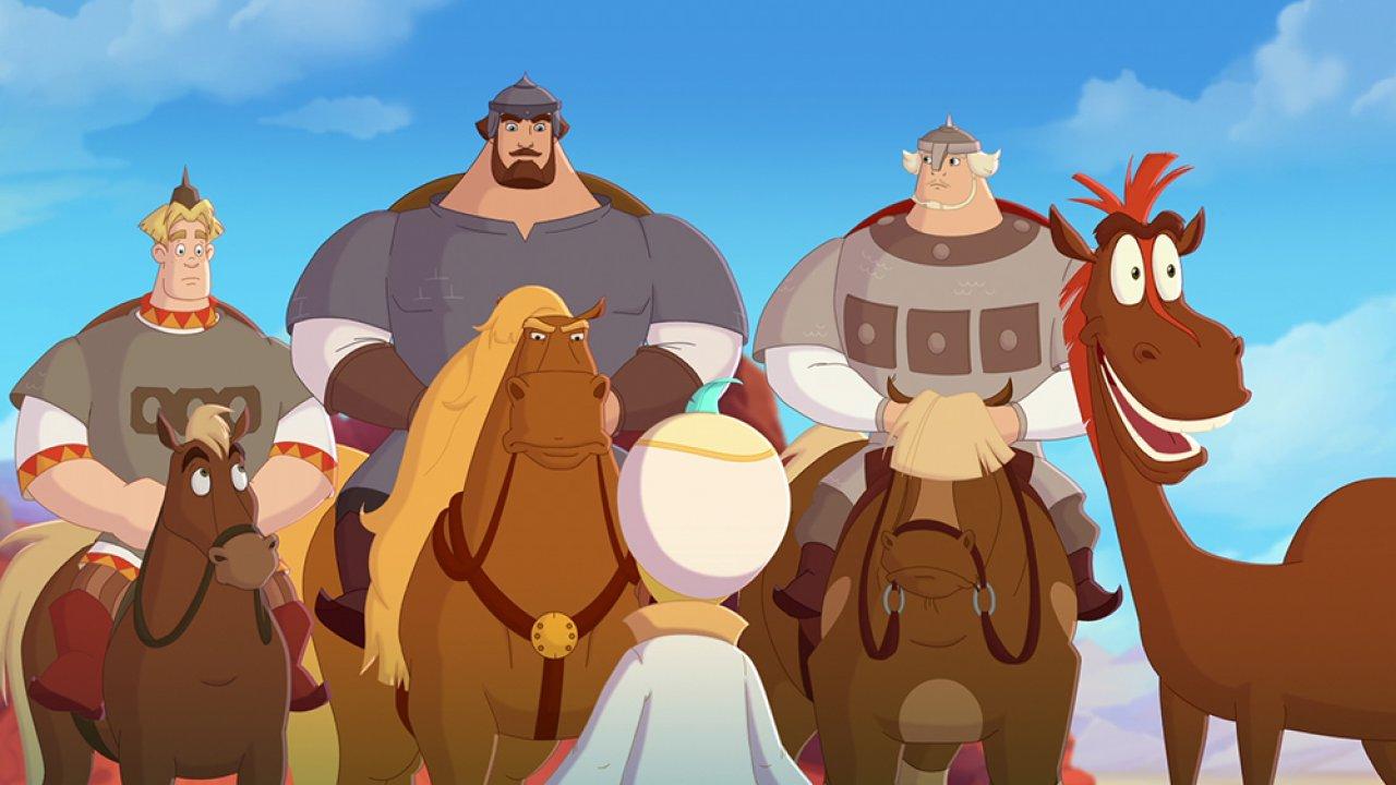 Конь Юлий и большие скачки - Анимационный фильм